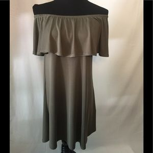 Alya  Olive green dress Size small